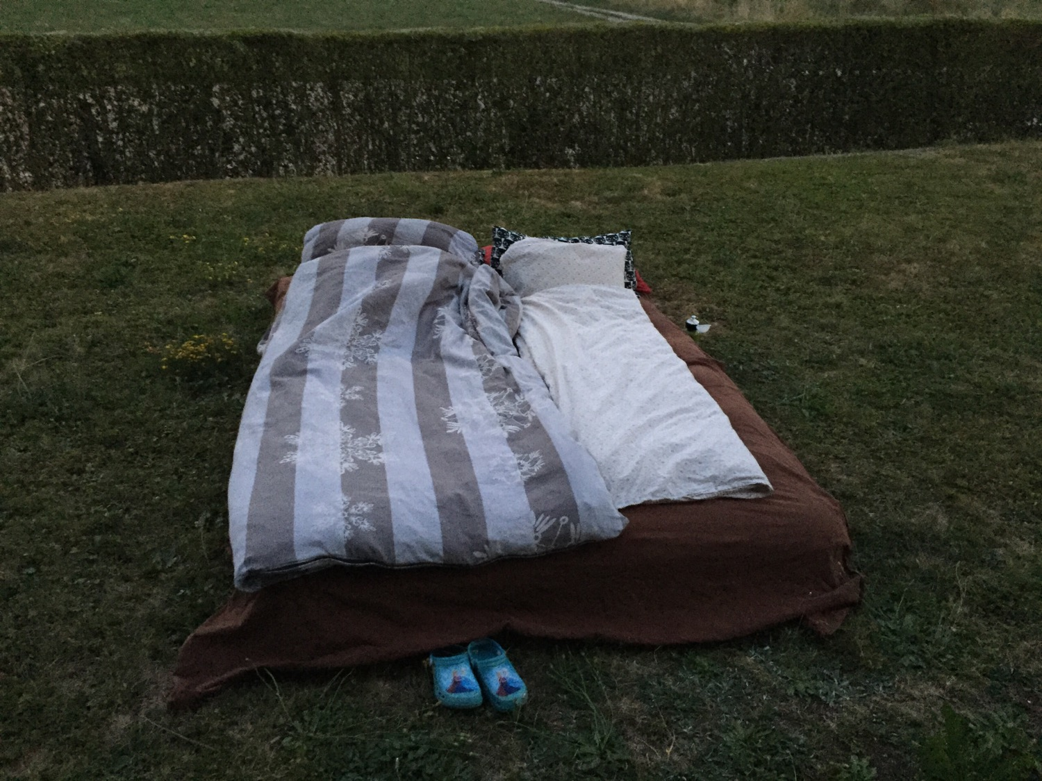 First time sleeping outside with my daughter. All went well!