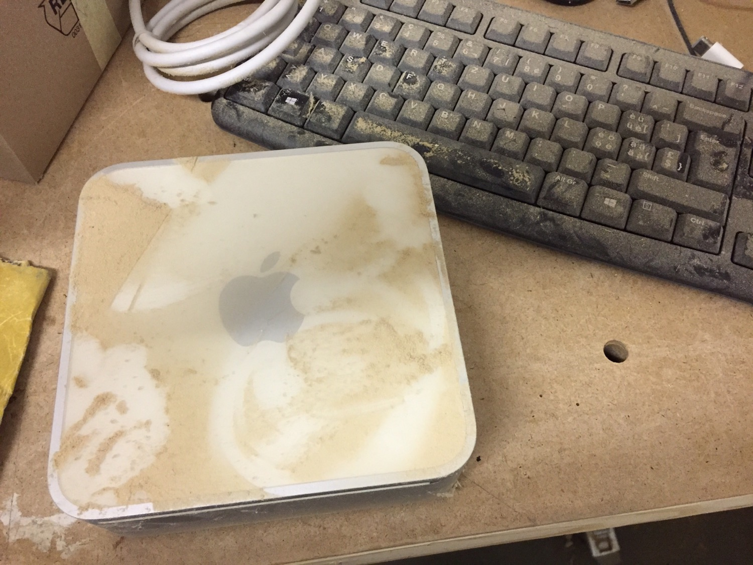 This Mac Mini spent to much time in my woodshop.