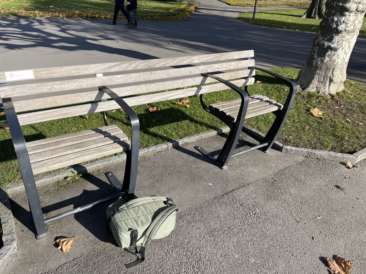 A strange bench. Why would you install such a thing?