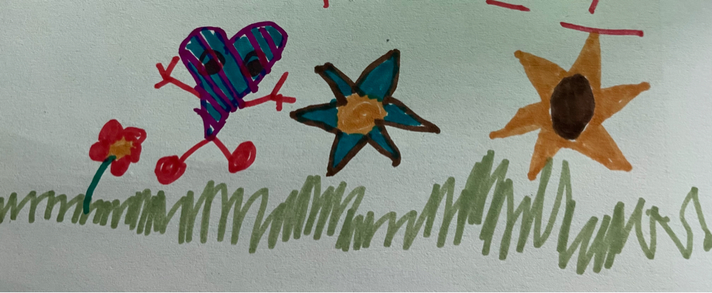 A lovely image drawer by my daughter today.