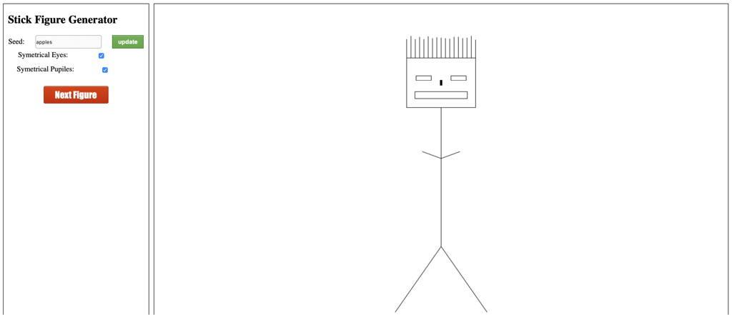 Weekend project - A stick figure generator