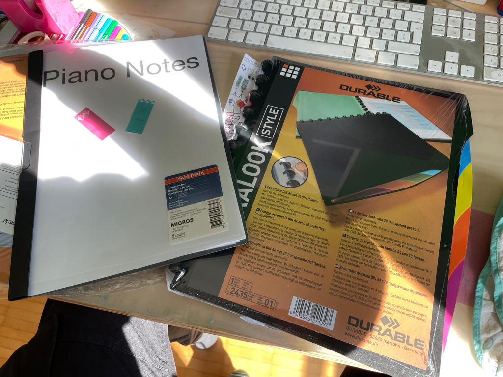 Hopefully a new an better home for my piano notes.