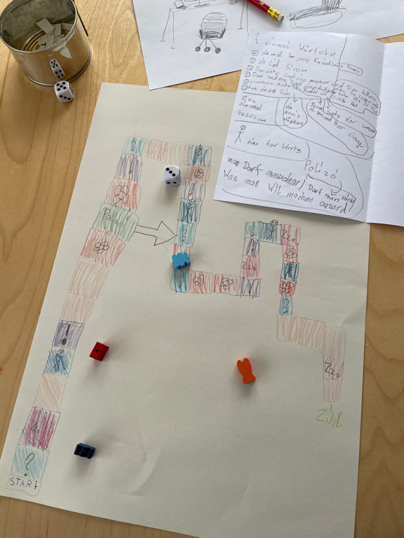 A new board game invention by my daughter.