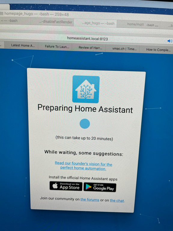 Another try at getting Home Assistant running.
