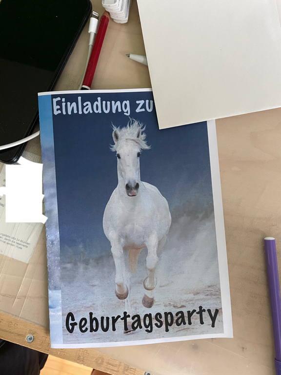 My work today - birthday party invitations.