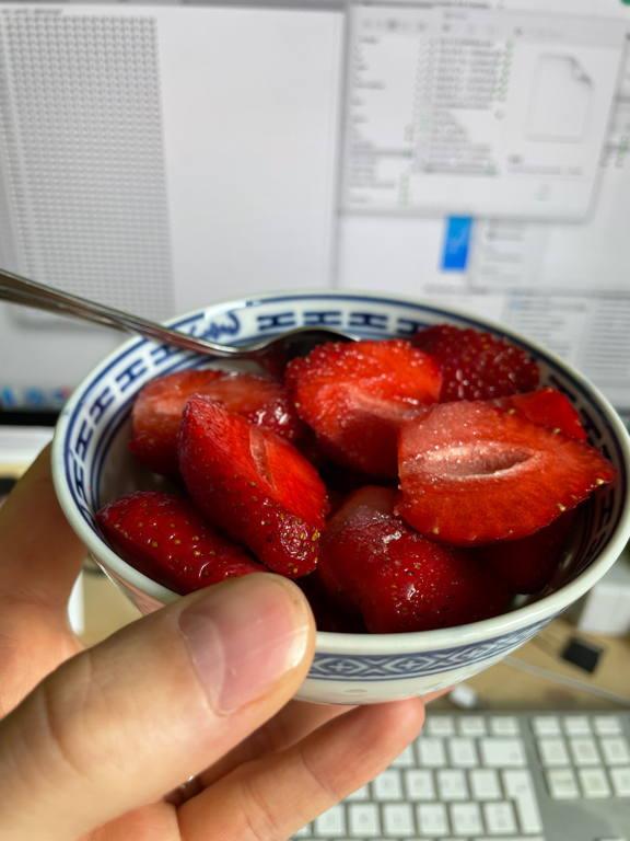 Summer — Strawberries with sugar