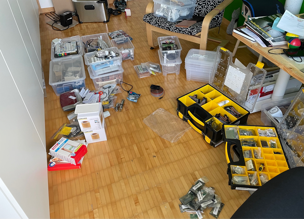 I am sorting and ordering my electronic components.